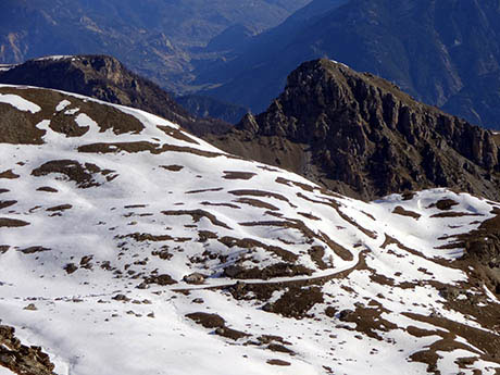 Piste de l'Alp au printemps