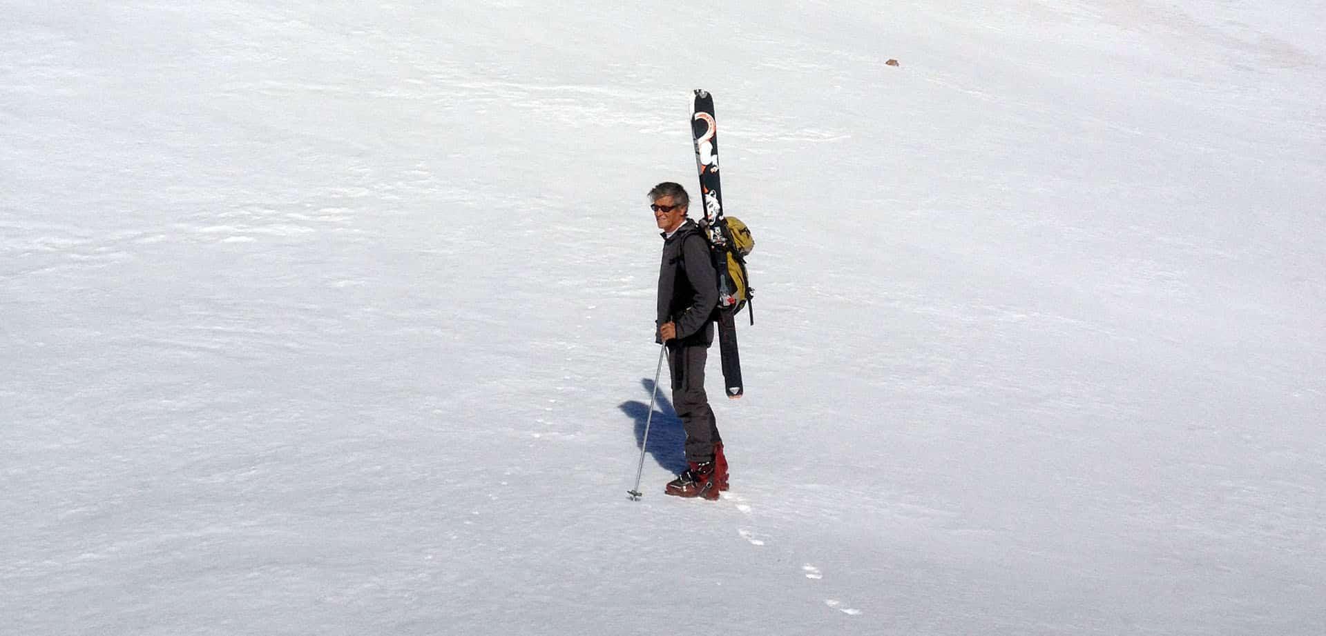 Louis Volle en randonnée
