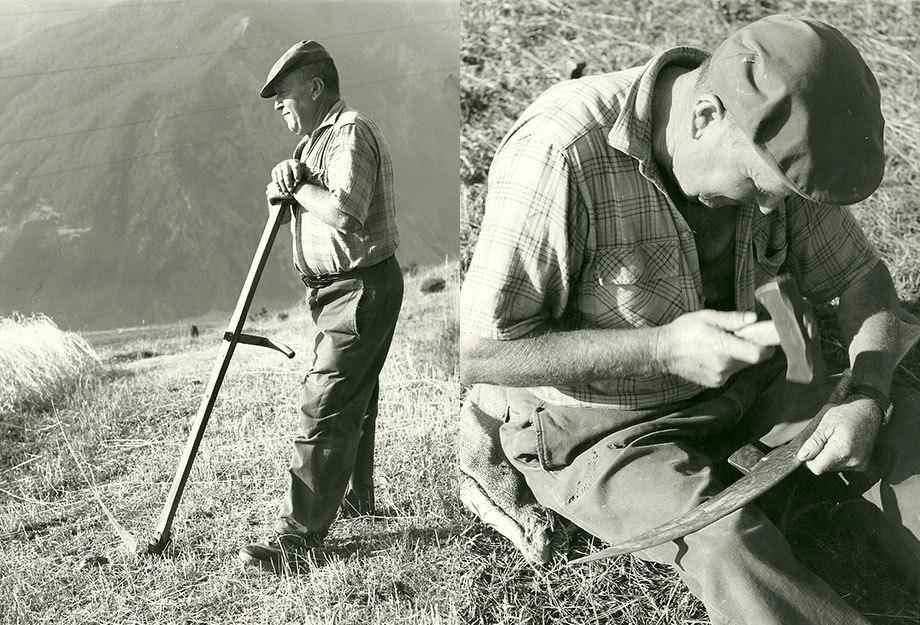 1974 Augustin Muraille - Pour bien faucher il faut régulièrement aiguiser la lame