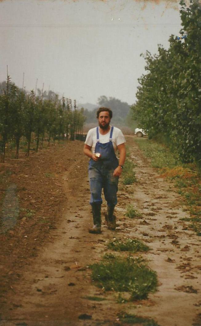 Août 1982 : René chef de cultures à Marsillargues.(Ph.R.Blanc).