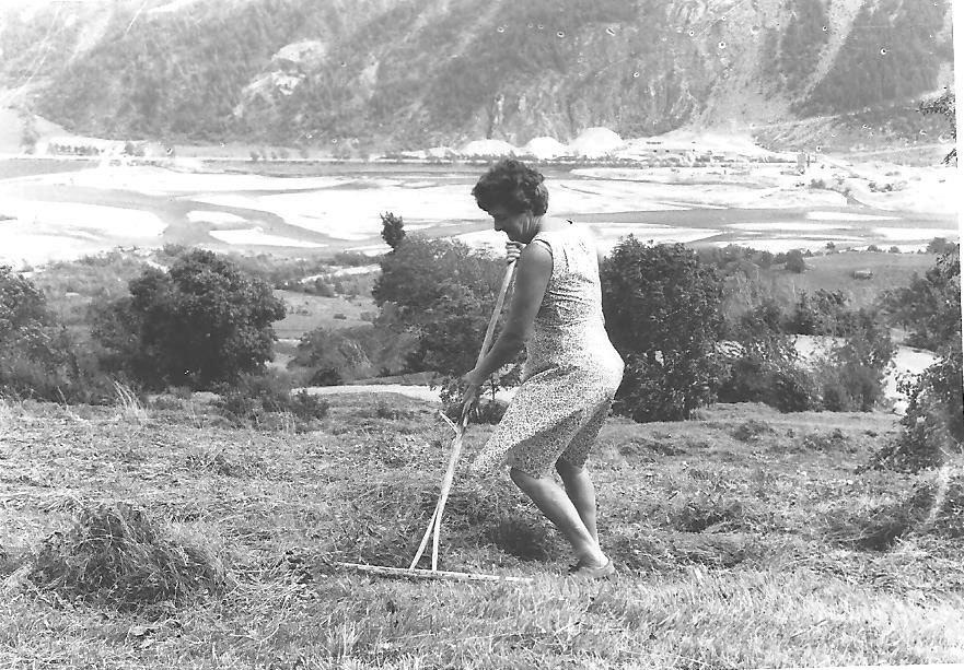 Jeannette Brun au Rateau 1 vers 1957