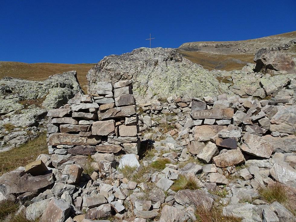 Les ruines de la chapelle