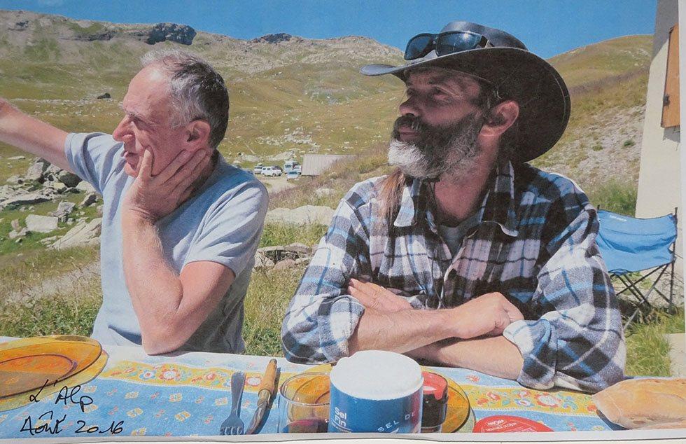 A l'Alp avec Denis Cheissoux (Ph.P.Labbé)