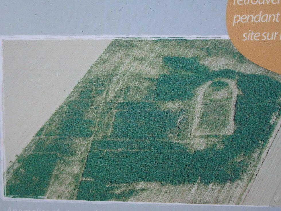 Site antique de Rama révélé sur photo aérienne.