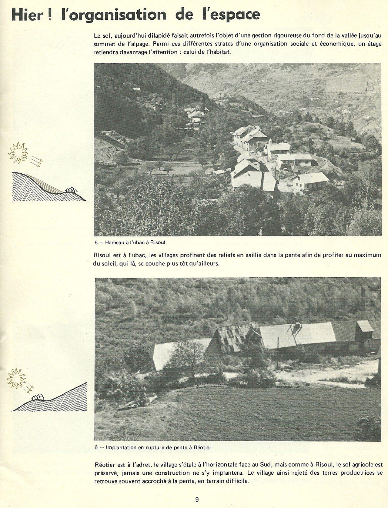 Extrait de la brochure « Construire en pays de Guillestre » 1977.