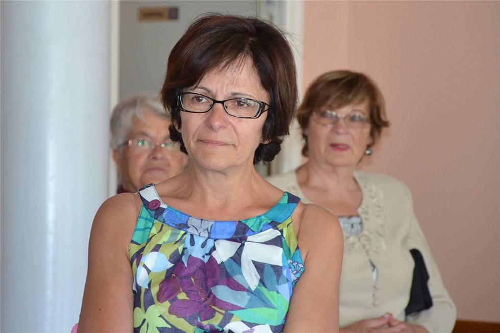 Marie Cannat lors de la fête de ses 50 ans.