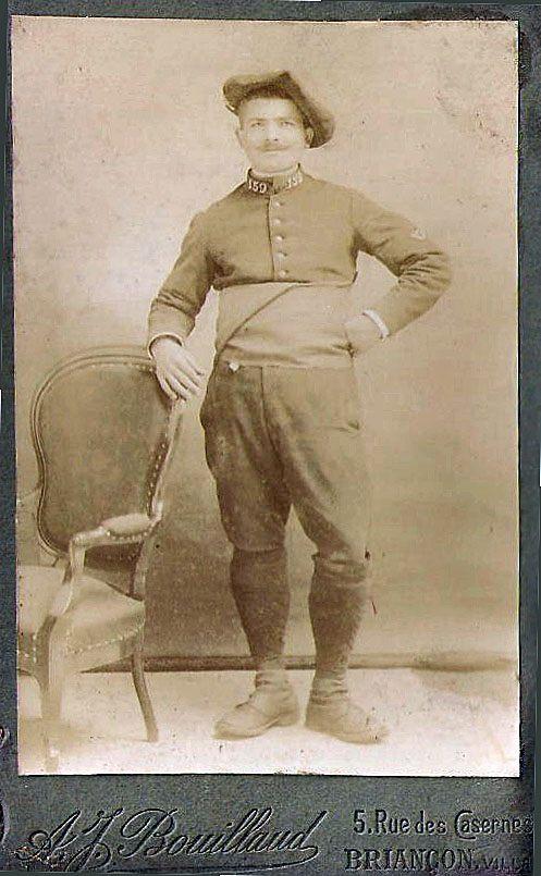 Amable Brun est resté plus de huit ans sous les drapeaux. C'est le beau père de Jeannette Brun.