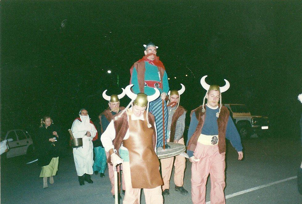 Abraracourcix Cannat chef du village gaulois de Réotier n'a peur ni de la chute ni de la dérision