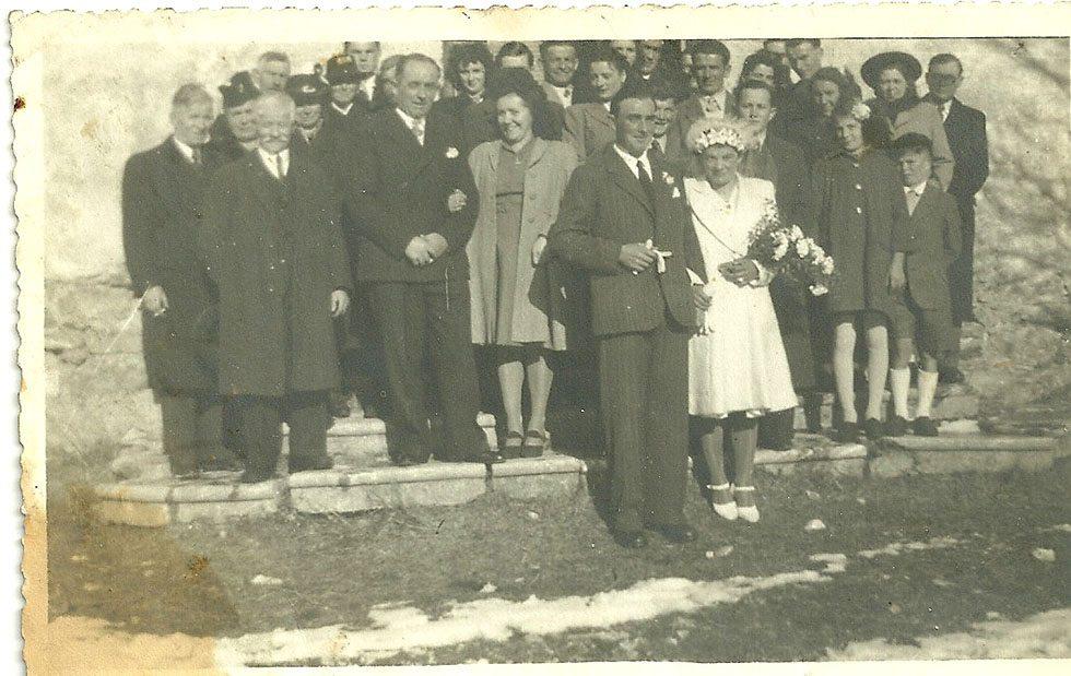 Mariage de Marcel et Marie Jeanne le 7 décembre 1946