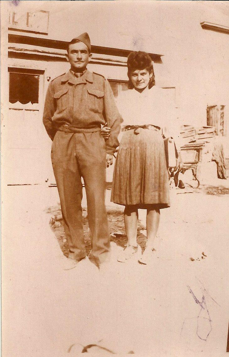 1944. Pendant la guerre Marcel Cannat et Marie Jeanne Brun