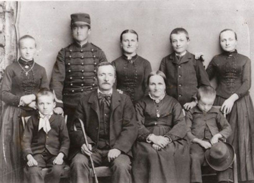Famille Domeny vers 1886