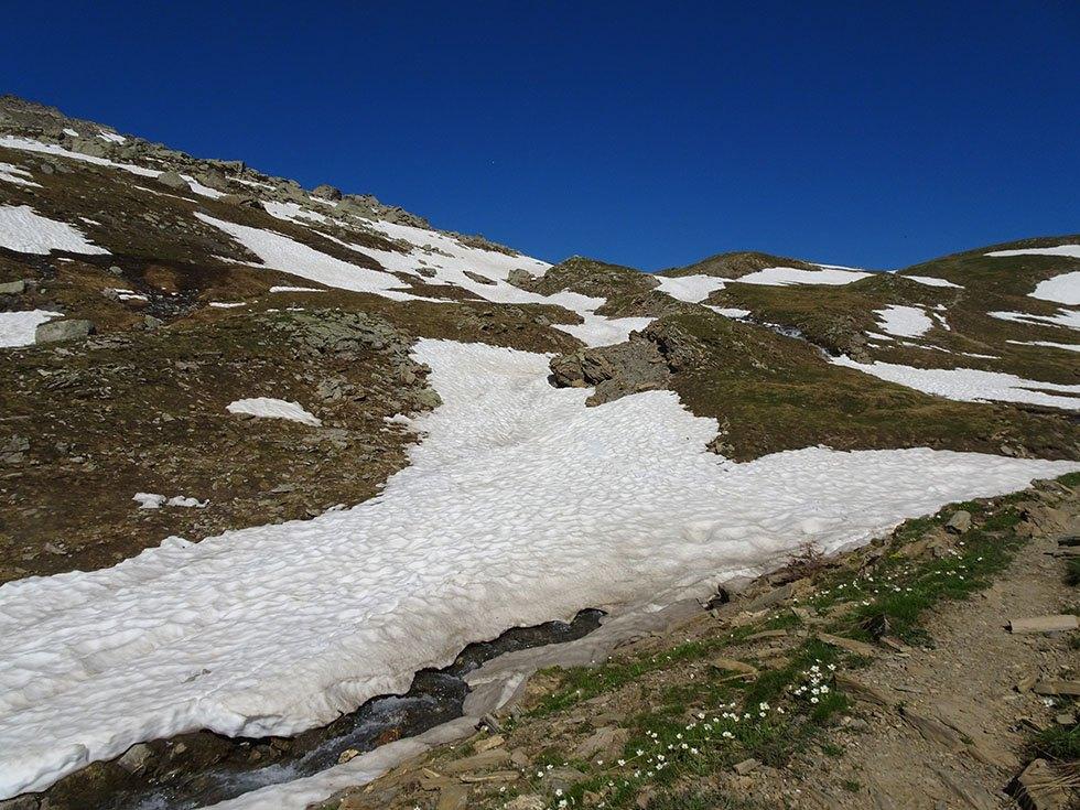 Renaissance saisonnière annuelle du torrent de l'Alp en juin.