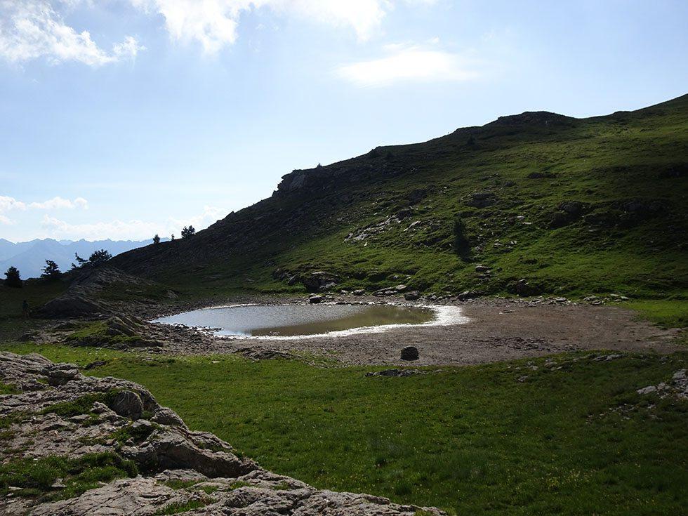 Le lac Trouble en détresse bien qu'on ne soit qu'à mi juillet.