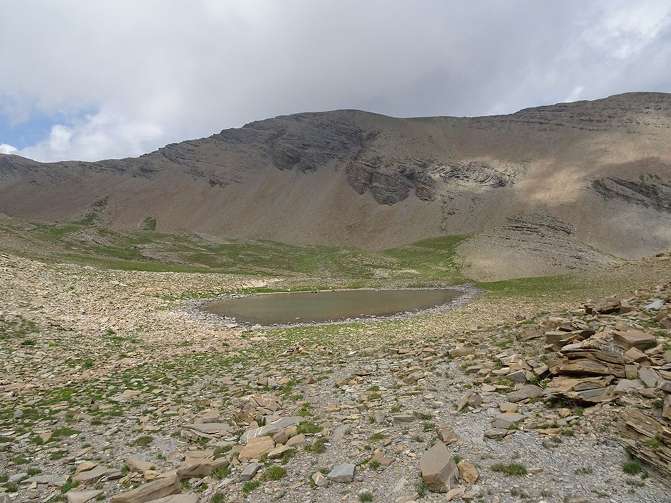 Le petit lac de Prenetz (2710m) proche du sentier de Vautisse.