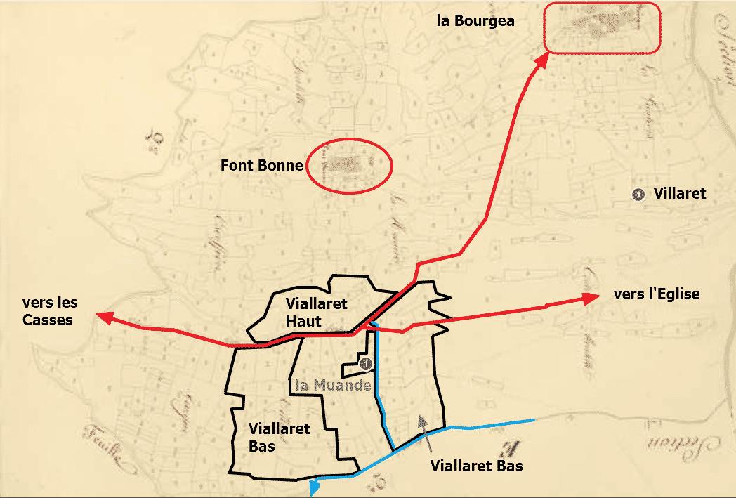la carte du Villaret