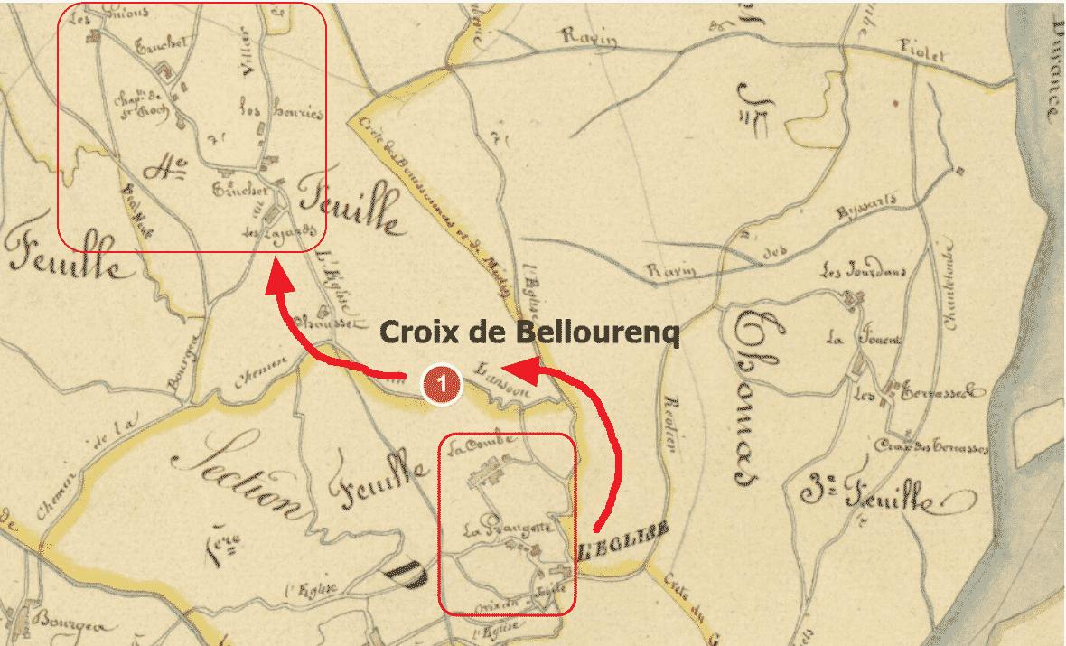 situation de la Croix de Bellourenq