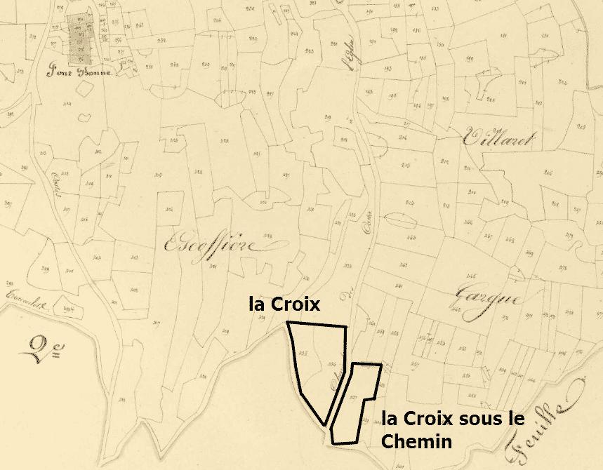 la croix du Coq côté Fontbonne