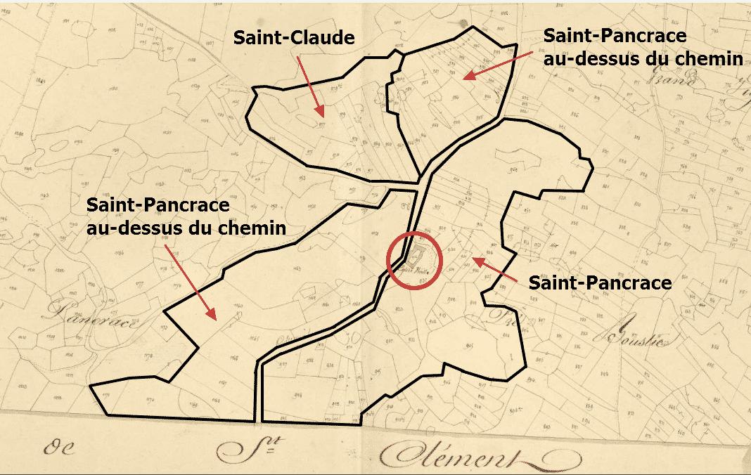 les quartiers Saint-Pancrace et Saint-Claude