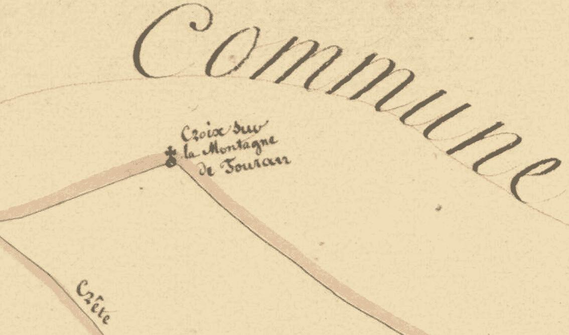 la croix de Fouran vue de Saint-Clément