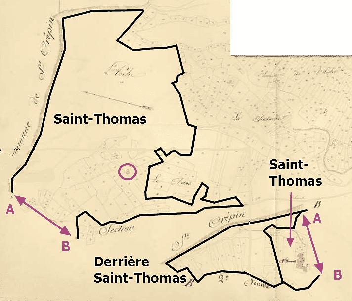 les quartiers de Saint-Thomas