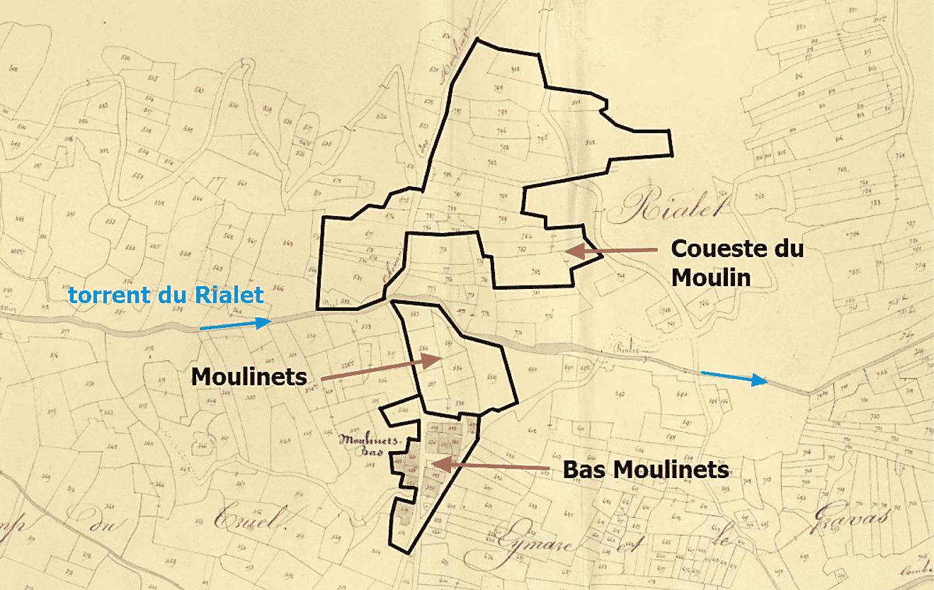 le quartier des Moulinets Bas