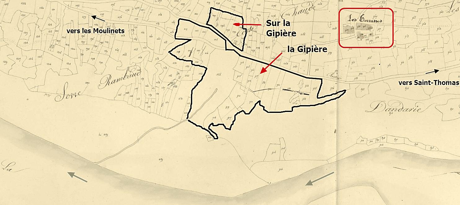 les deux quartiers de la Gipière